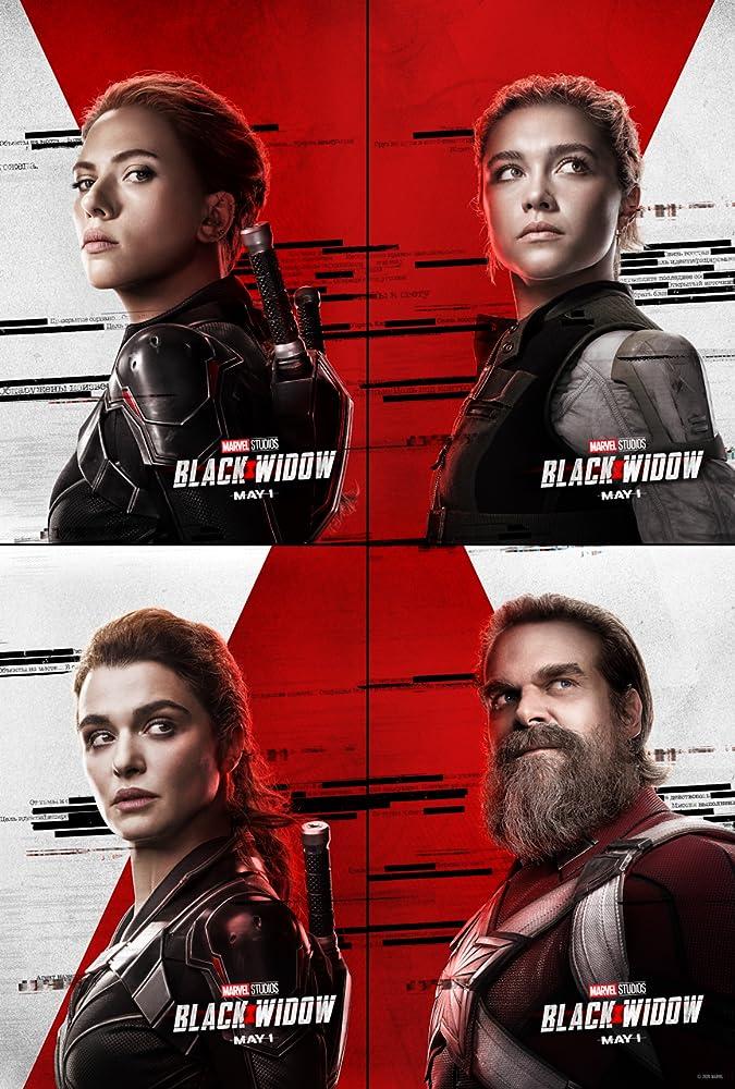 Rachel Weisz, Scarlett Johansson, David Harbour, and Florence Pugh in Black Widow