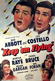 Bud Abbott, Carol Bruce, Lou Costello, Dick Foran, and Martha Raye in Keep 'Em Flying (1941)