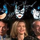 Michelle Pfeiffer, Danny DeVito, and Michael Keaton in The Bat, the Cat, and the Penguin (1992)