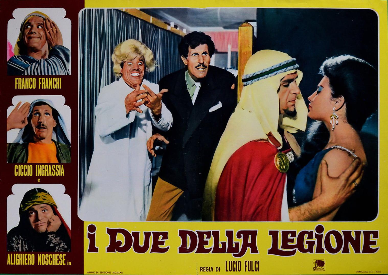 Franco Franchi, Aldo Giuffrè, Ciccio Ingrassia, and Alighiero Noschese in I due della legione (1962)