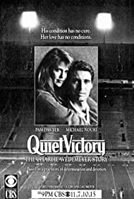 Pam Dawber and Michael Nouri in Quiet Victory: The Charlie Wedemeyer Story (1988)