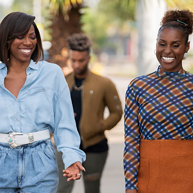Yvonne Orji and Issa Rae in Insecure: Lowkey Trying (2020)