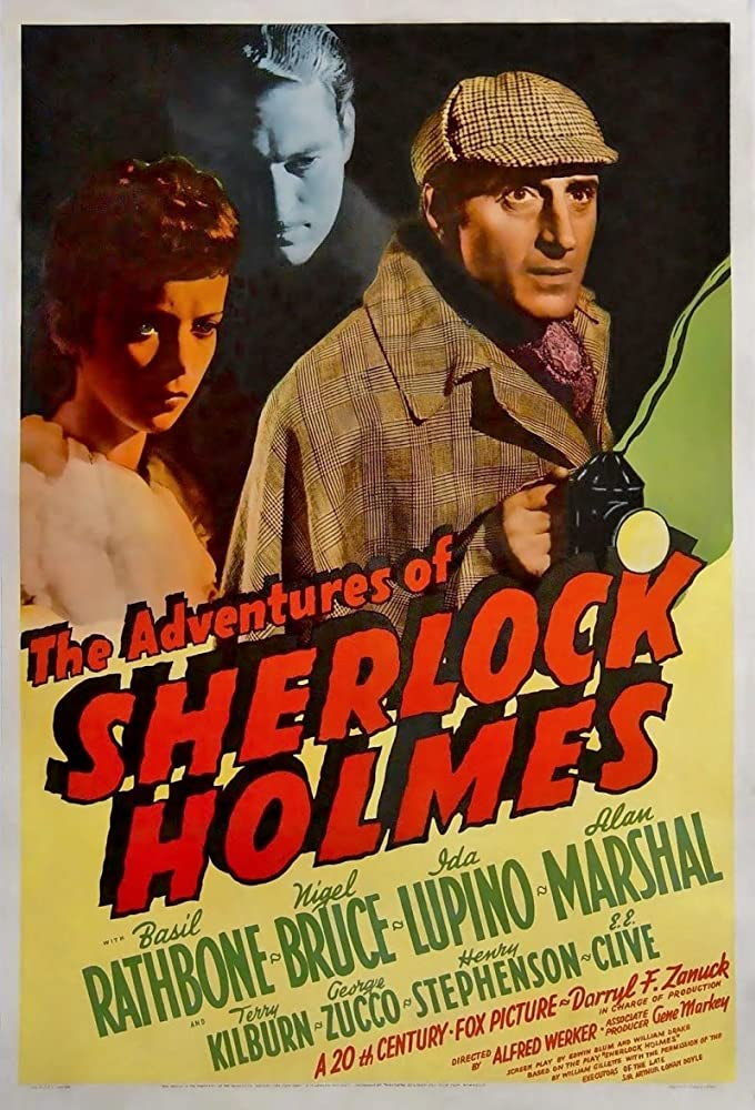 Basil Rathbone, Ida Lupino, and Alan Marshal in The Adventures of Sherlock Holmes (1939)