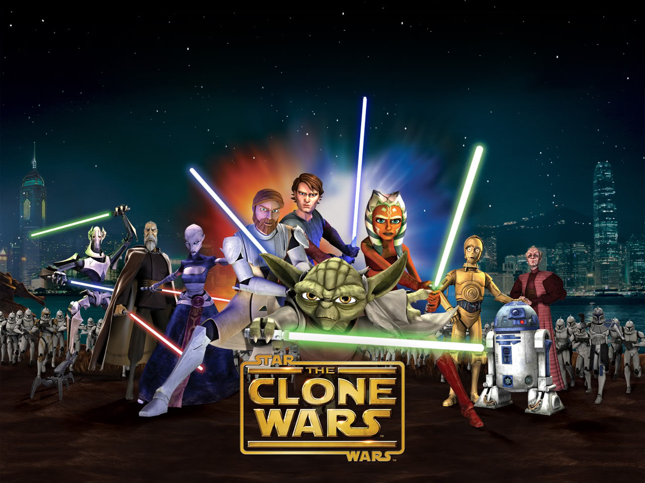 Ian Abercrombie, Matthew Wood, Dee Bradley Baker, Corey Burton, Ashley Eckstein, Nika Futterman, Tom Kane, James Arnold Taylor, and Matt Lanter in Star Wars: The Clone Wars (2008)