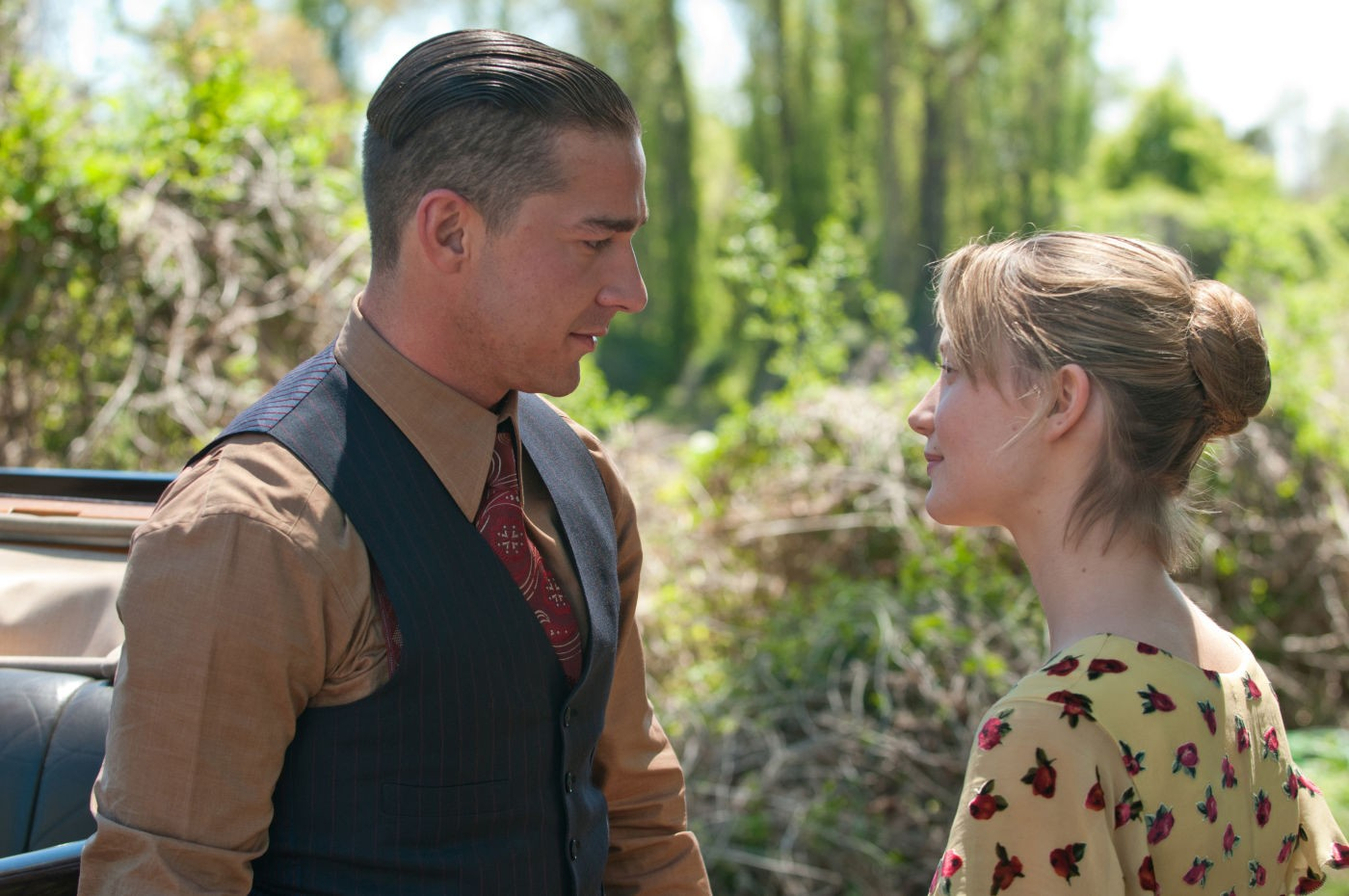 Shia LaBeouf and Mia Wasikowska in Lawless (2012)