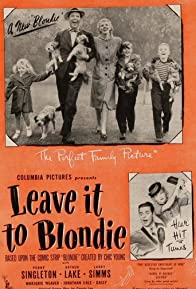 Primary photo for Leave It to Blondie