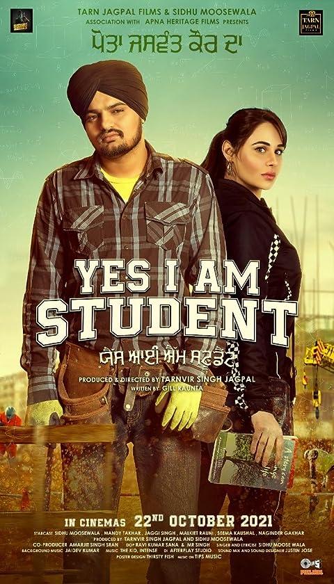 Yes I Am Student (2021) Punjabi Movie 300MB HQ Pre-DvDRip 480p Download