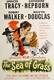 Katharine Hepburn, Spencer Tracy, Melvyn Douglas, and Robert Walker in The Sea of Grass (1947)