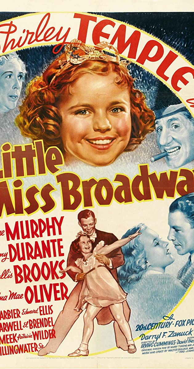 Little Miss Broadway Shirley Temple movie poster print