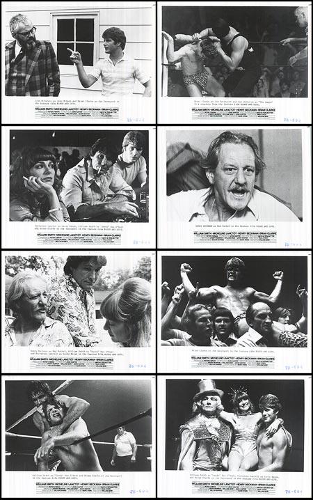 Henry Beckman, Brian Patrick Clarke, Micheline Lanctôt, and William Smith in Blood & Guts (1978)