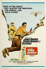 James Garner, George Kennedy, and Eva Renzi in The Pink Jungle (1968)
