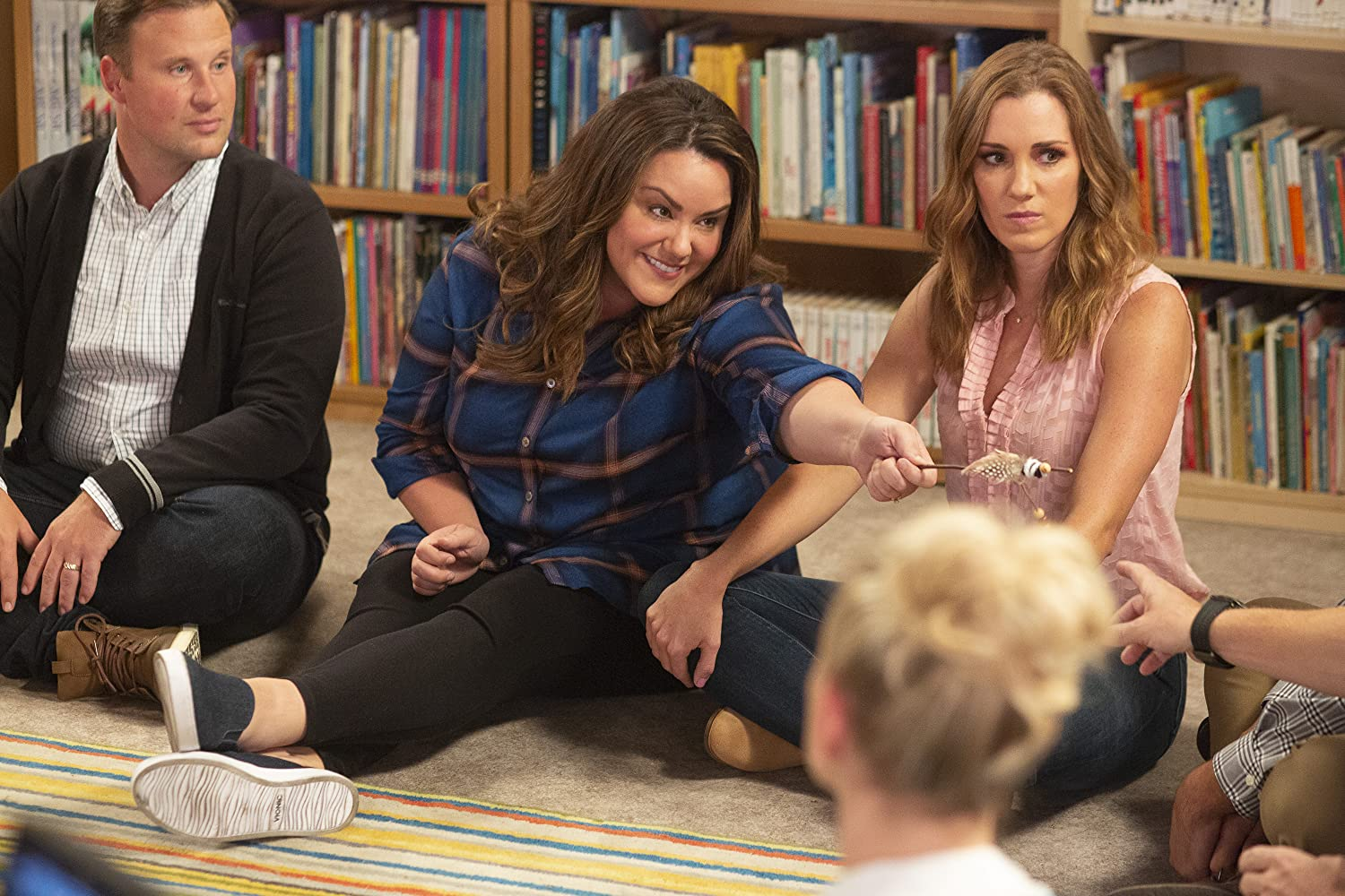Katy Mixon and Carly Craig in American Housewife (2016)
