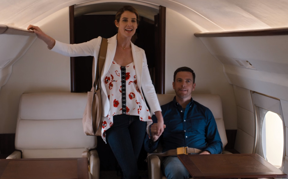 Cobie Smulders and Zack Robidas in Friends from College (2017)