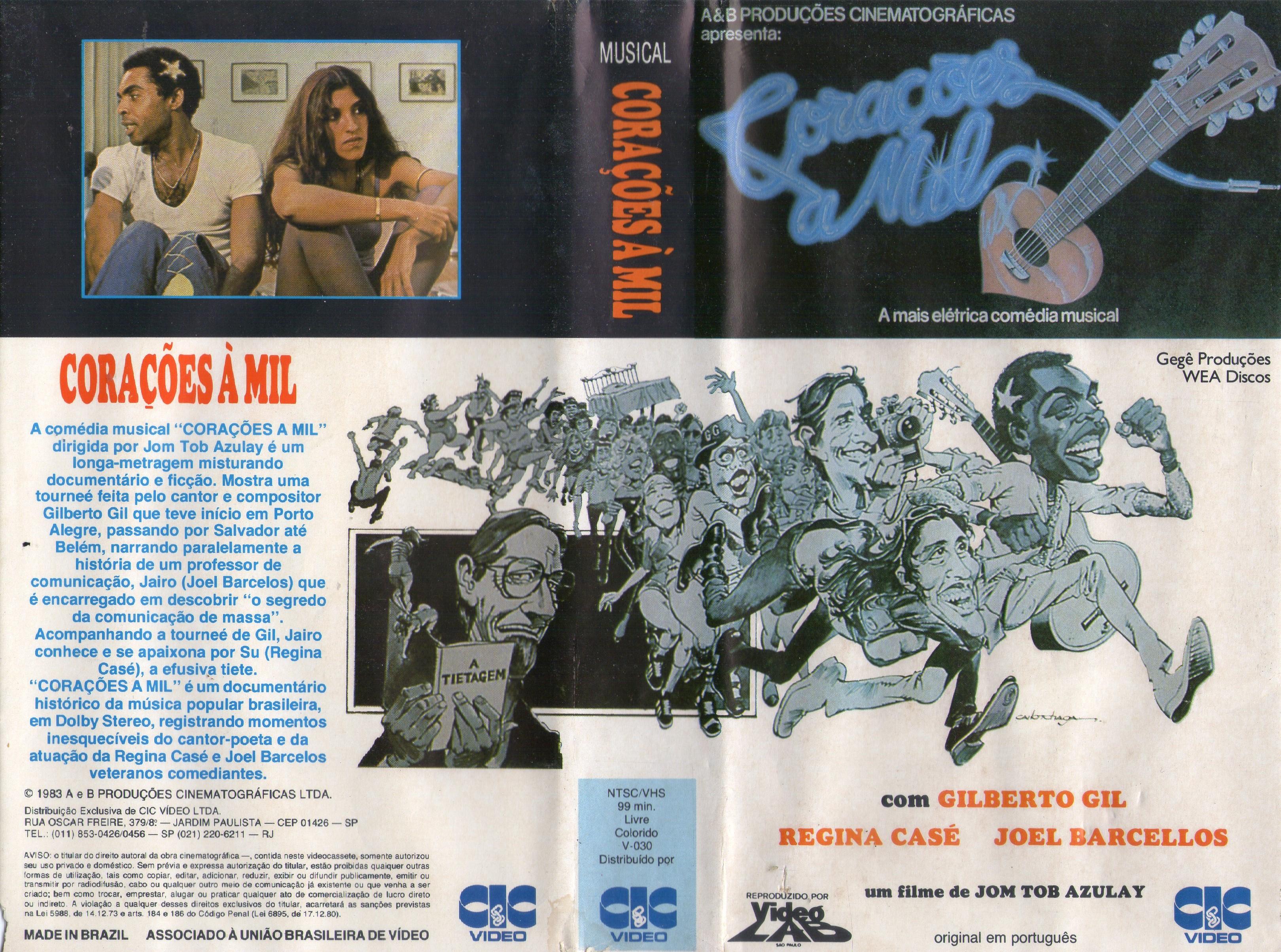 Regina Casé and Gilberto Gil in Corações a Mil (1981)