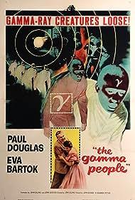 Paul Douglas and Eva Bartok in The Gamma People (1956)
