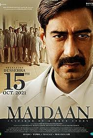 Ajay Devgn, Boney Kapoor, Gajraj Rao, Priyamani, Rudranil Ghosh, and Sourav Kumar in Maidaan (2021)