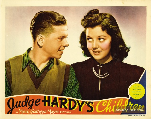 Mickey Rooney and Ann Rutherford in Judge Hardy's Children (1938)