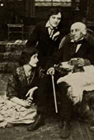 Etienne Girardot, Clara Kimball Young, James Young, and Shep the Dog in The Violin of M'sieur (1914)