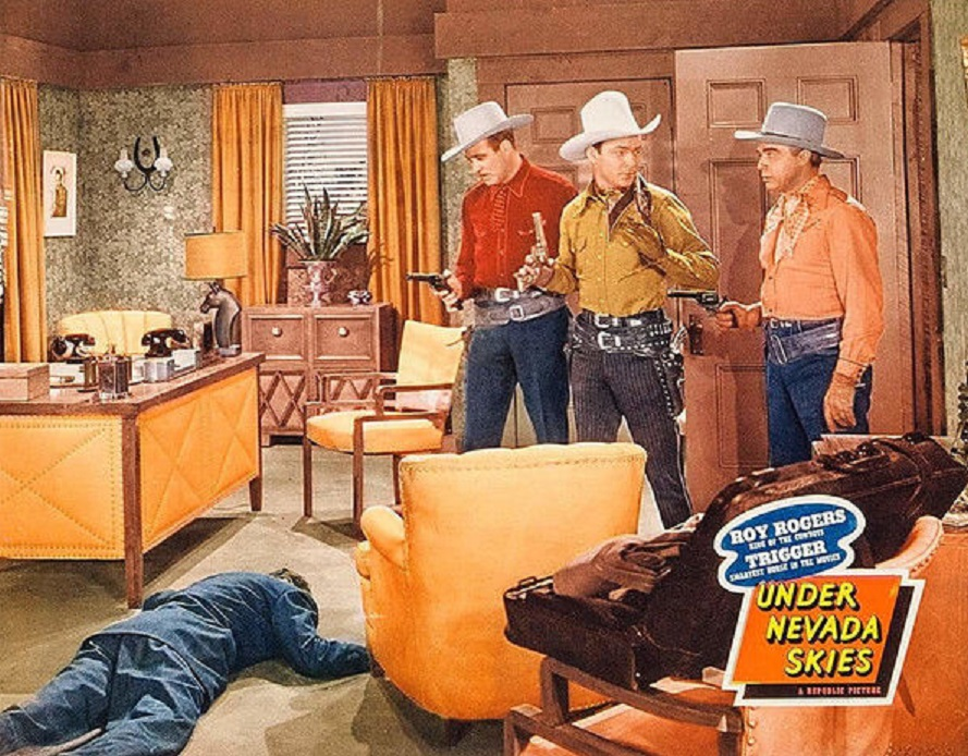 Roy Rogers, LeRoy Mason, and Tom Quinn in Under Nevada Skies (1946)