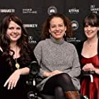 Jennifer Brea, Lindsey Dryden, and Patricia E. Gillespie at an event for Unrest (2017)