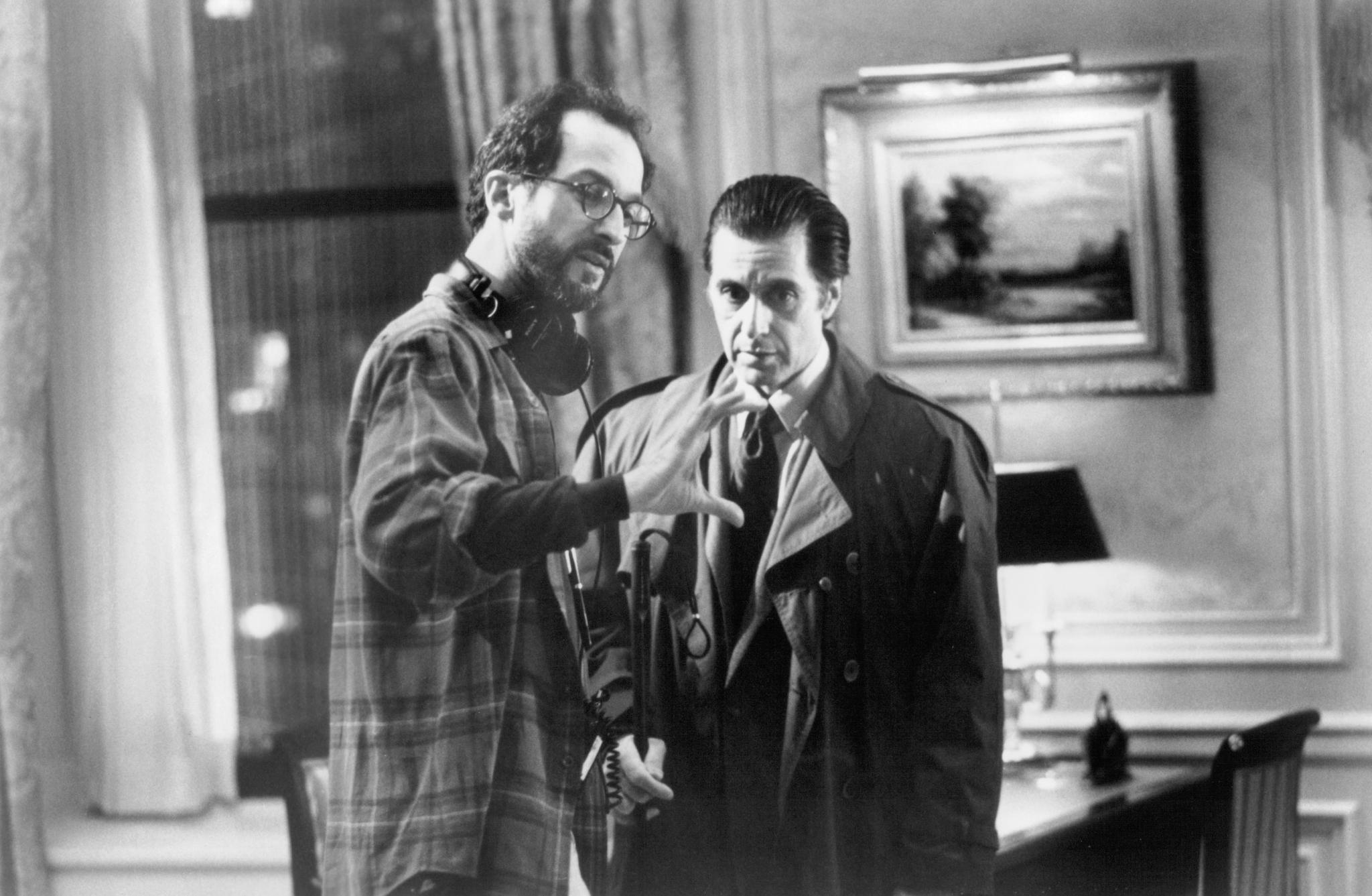 Al Pacino and Martin Brest in Scent of a Woman (1992)