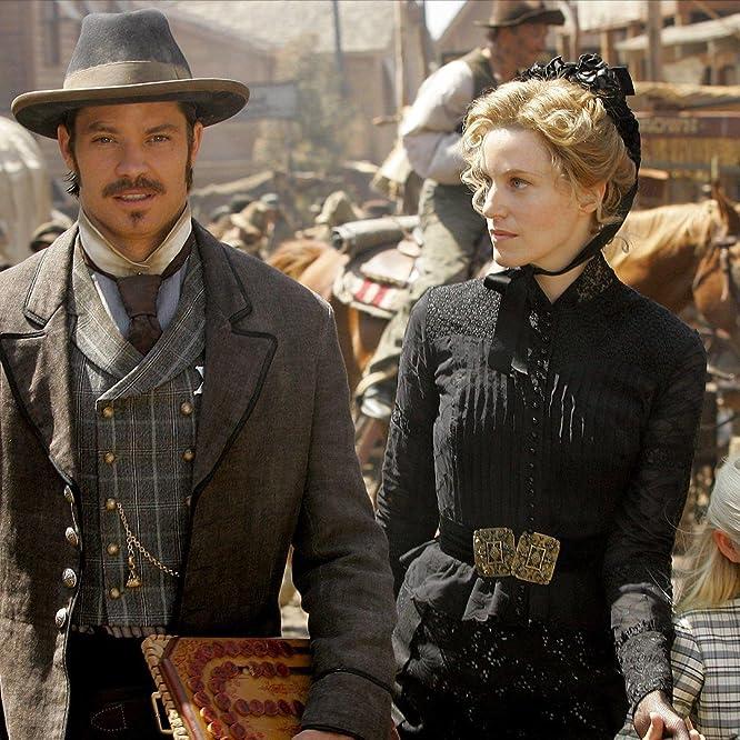 Anna Gunn, Timothy Olyphant, and Bree Seanna Wall in Deadwood (2004)