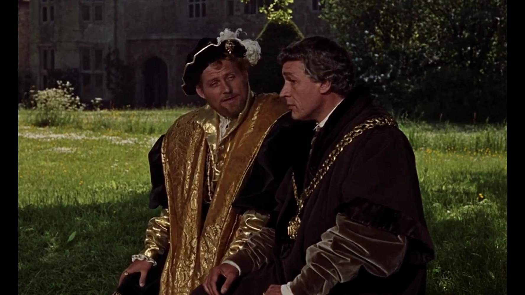 Robert Shaw and Paul Scofield in A Man for All Seasons (1966)