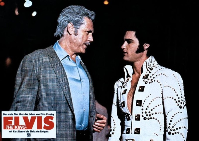 Kurt Russell and Bing Russell in Elvis (1979)