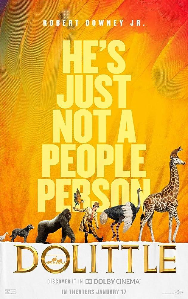 Poster film Dolittle (2020). (Universal)