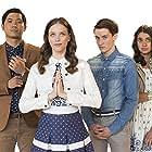 Craig Michael-Hyde, Geraldine Viswanathan, Jon Prasida, and Jordan Hare in Emo the Musical (2016)