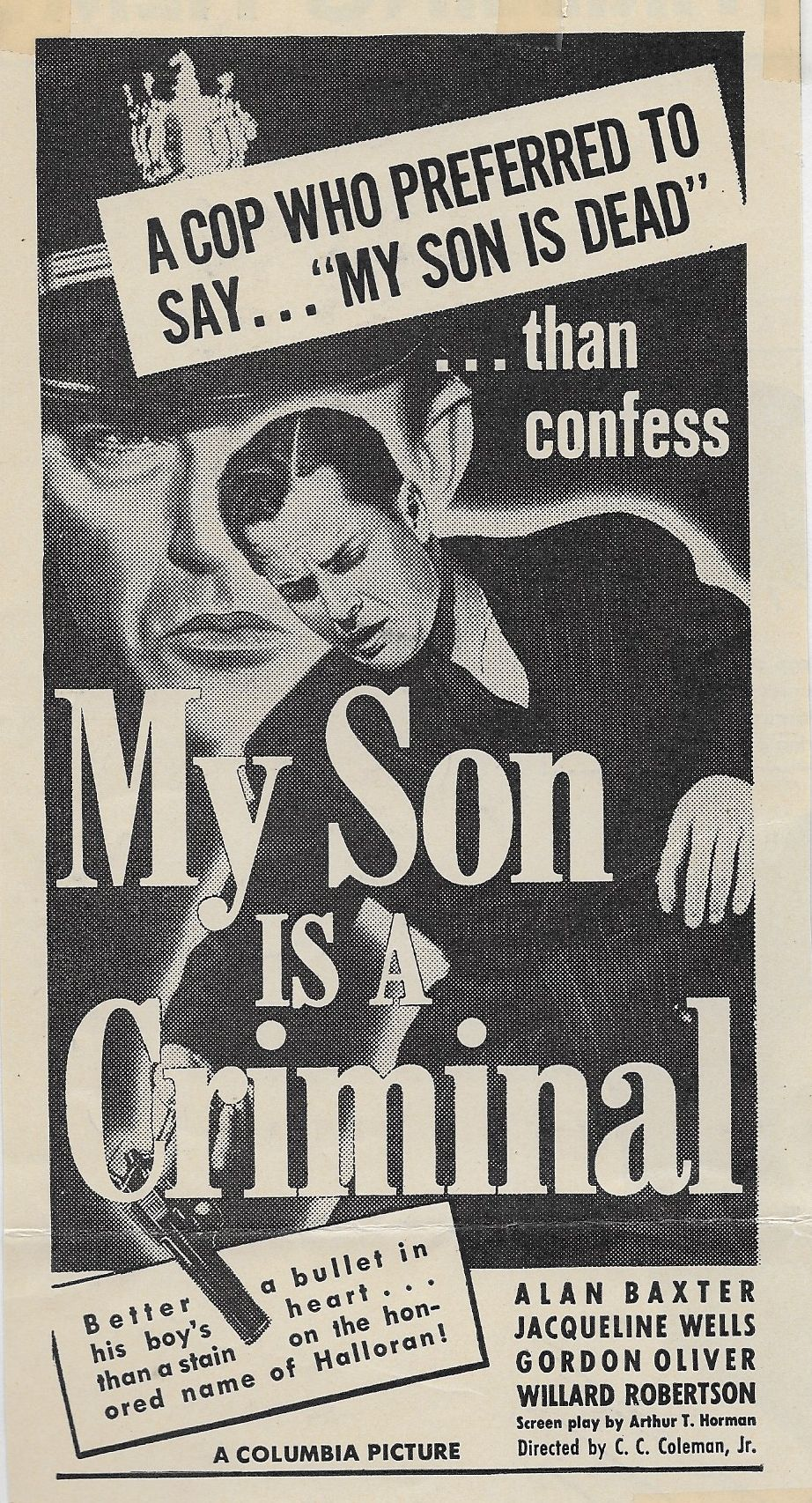 Alan Baxter and Willard Robertson in My Son Is a Criminal (1939)
