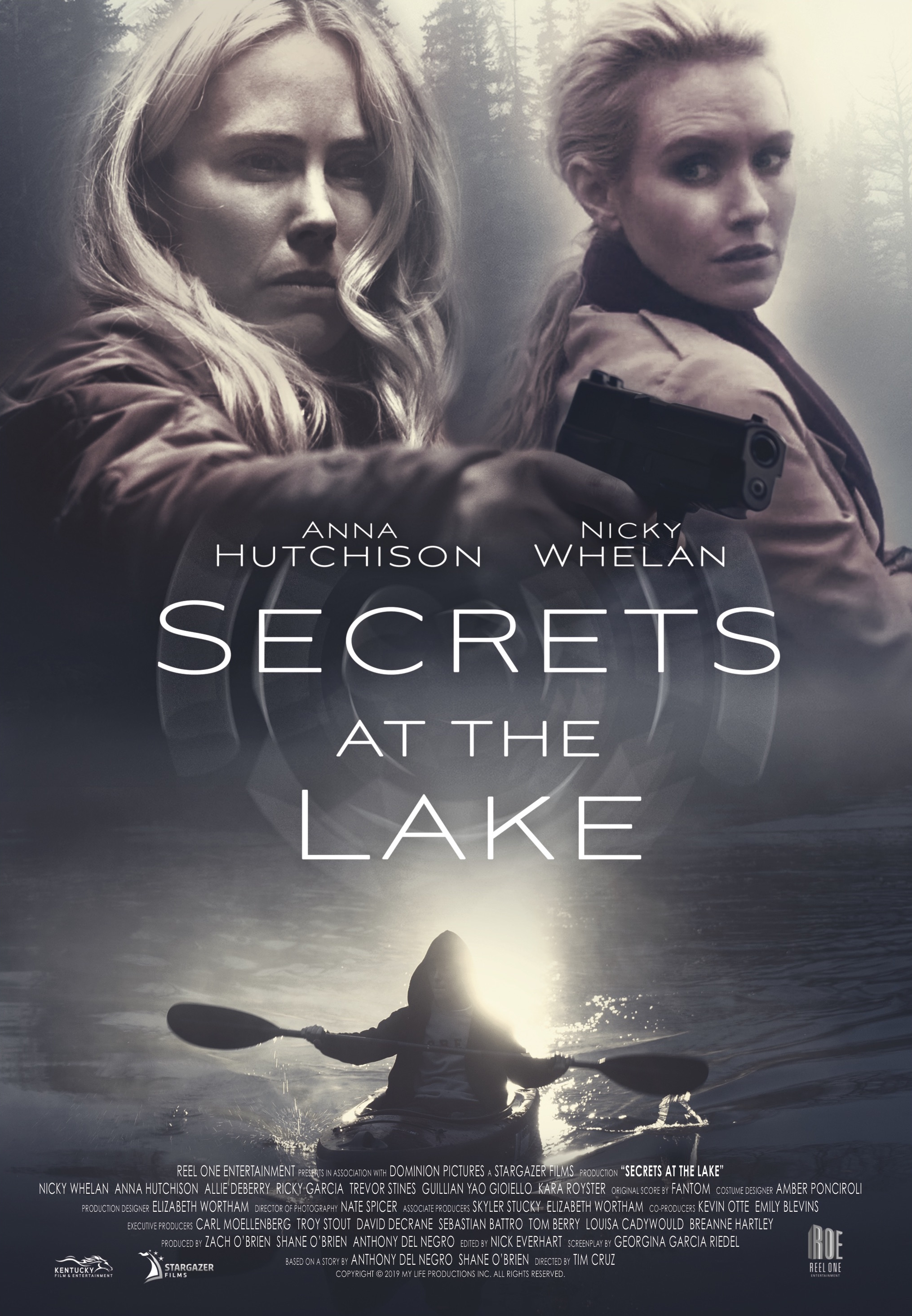 Anna Hutchison and Nicky Whelan in Secrets at the Lake (2019)