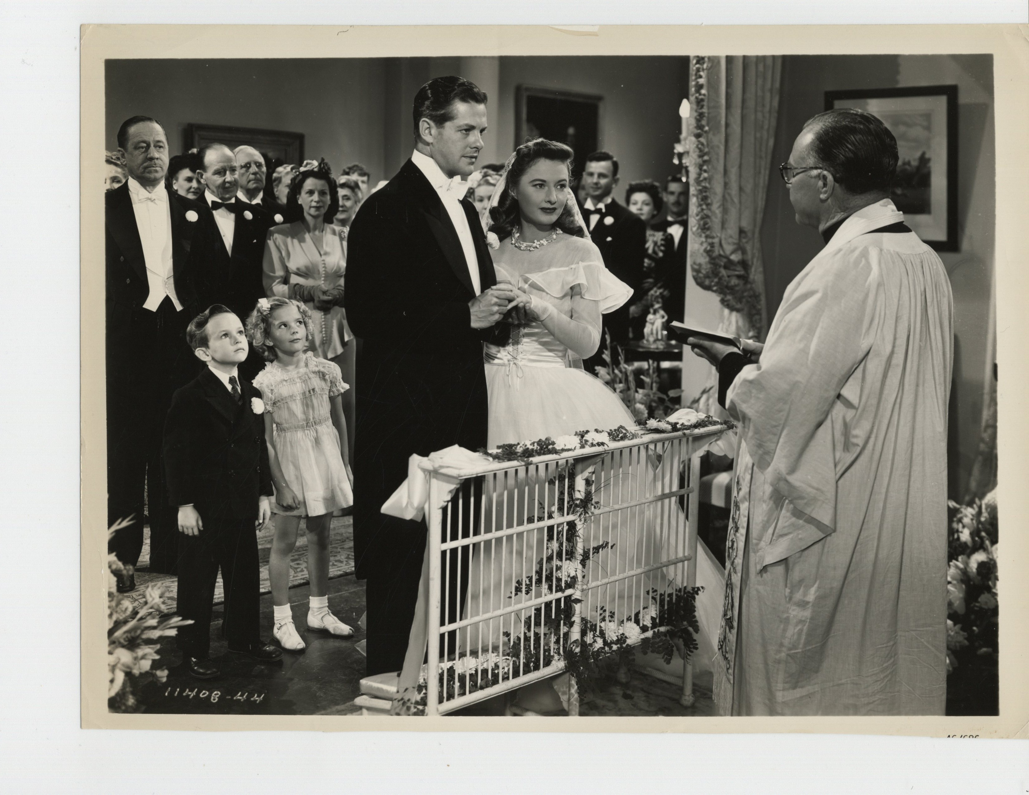 Natalie Wood, Barbara Stanwyck, Robert Benchley, Robert Cummings, and Harry Hayden in The Bride Wore Boots (1946)