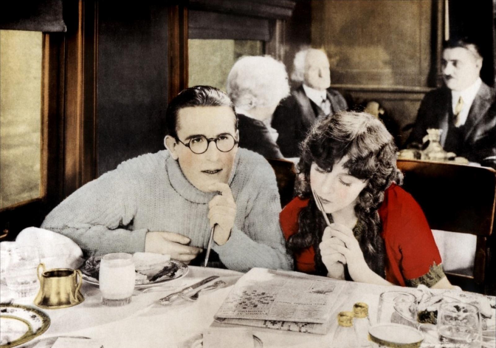 Harold Lloyd and Jobyna Ralston in The Freshman (1925)