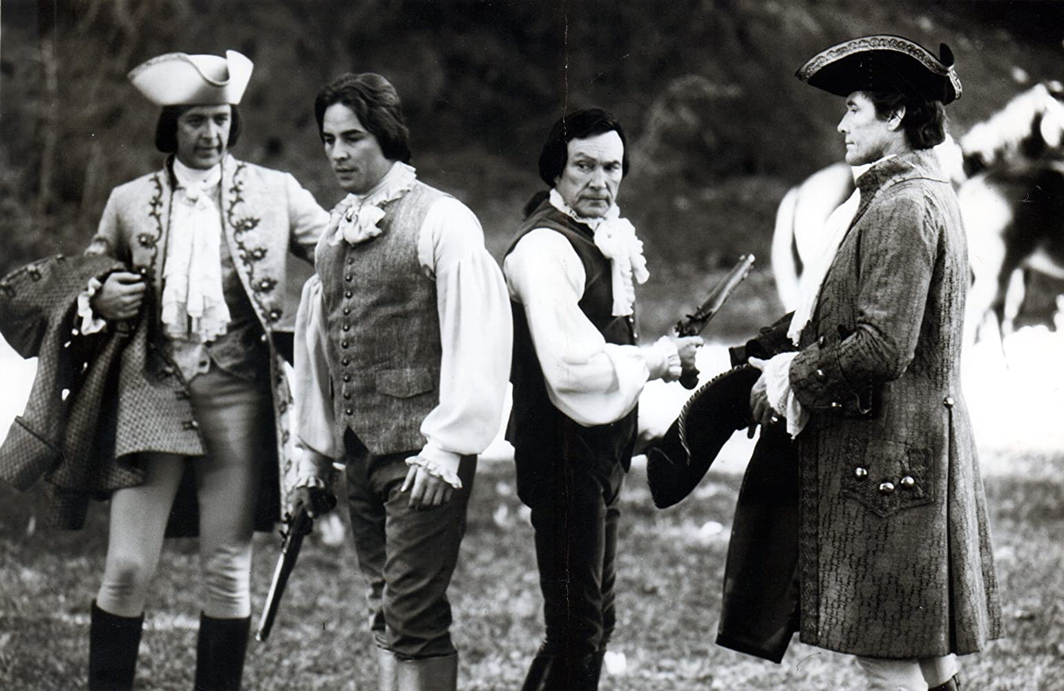 Don Johnson, Harry Johnson, William Smith, and Warren Stevens in The Rebels (1979)