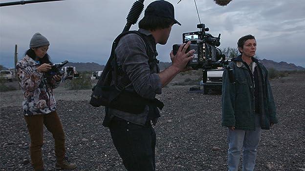 Frances McDormand, Chloé Zhao, and Joshua James Richards in Nomadland (2020)