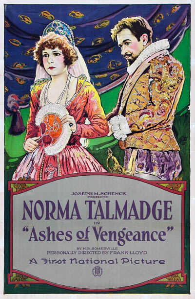 Wallace Beery and Norma Talmadge in Ashes of Vengeance (1923)