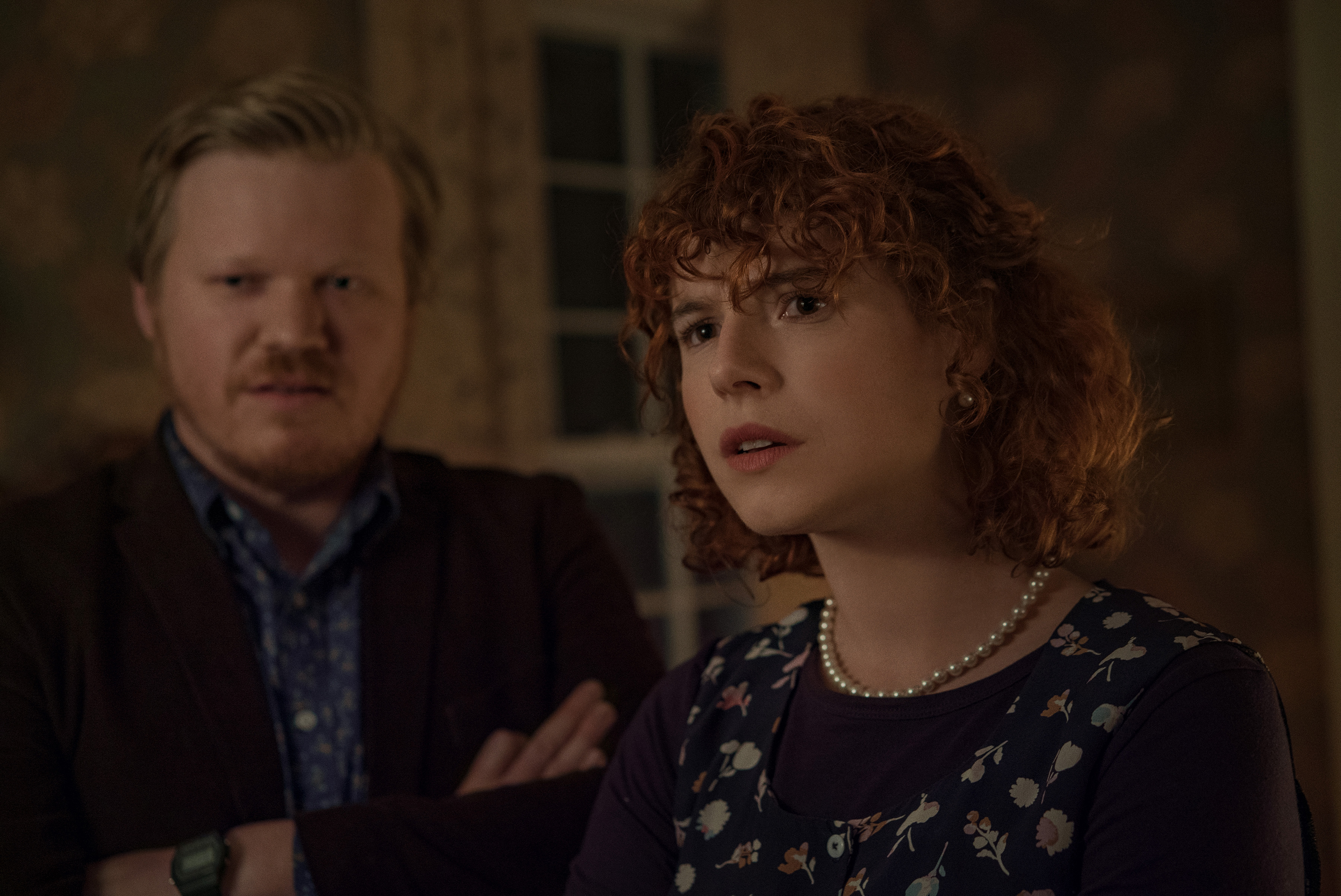 Jesse Plemons and Jessie Buckley in I'm Thinking of Ending Things (2020)