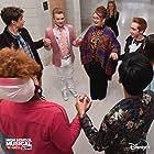 Kate Reinders, Julia Lester, Larry Saperstein, Frankie A. Rodriguez, Joshua Bassett, Joe Serafini, and Dara Renee in High School Musical: The Musical - The Series (2019)