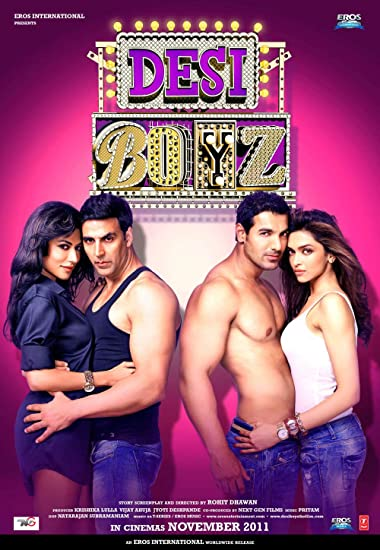 Poster of Desi Boyz 2011 Full Hindi Free Download Watch Online In HD Movie Download 720p BluRay