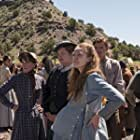 Merritt Wever, Thomas Brodie-Sangster, Samantha Soule, and Kayli Carter in Godless (2017)