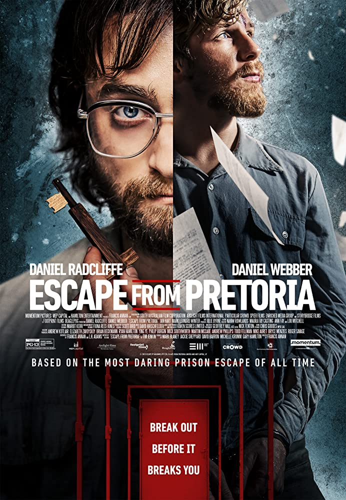 Daniel Radcliffe and Daniel Webber in Escape from Pretoria (2020)