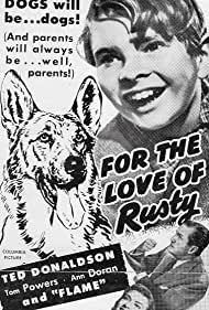 Ted Donaldson, Ann Doran, Tom Powers, and Flame in For the Love of Rusty (1947)
