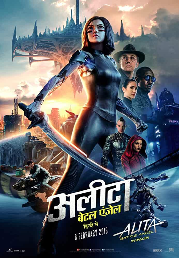 Alita Battle Angel (2019) Dual ORG Audio [Hindi + English] HDRip x264 ESub