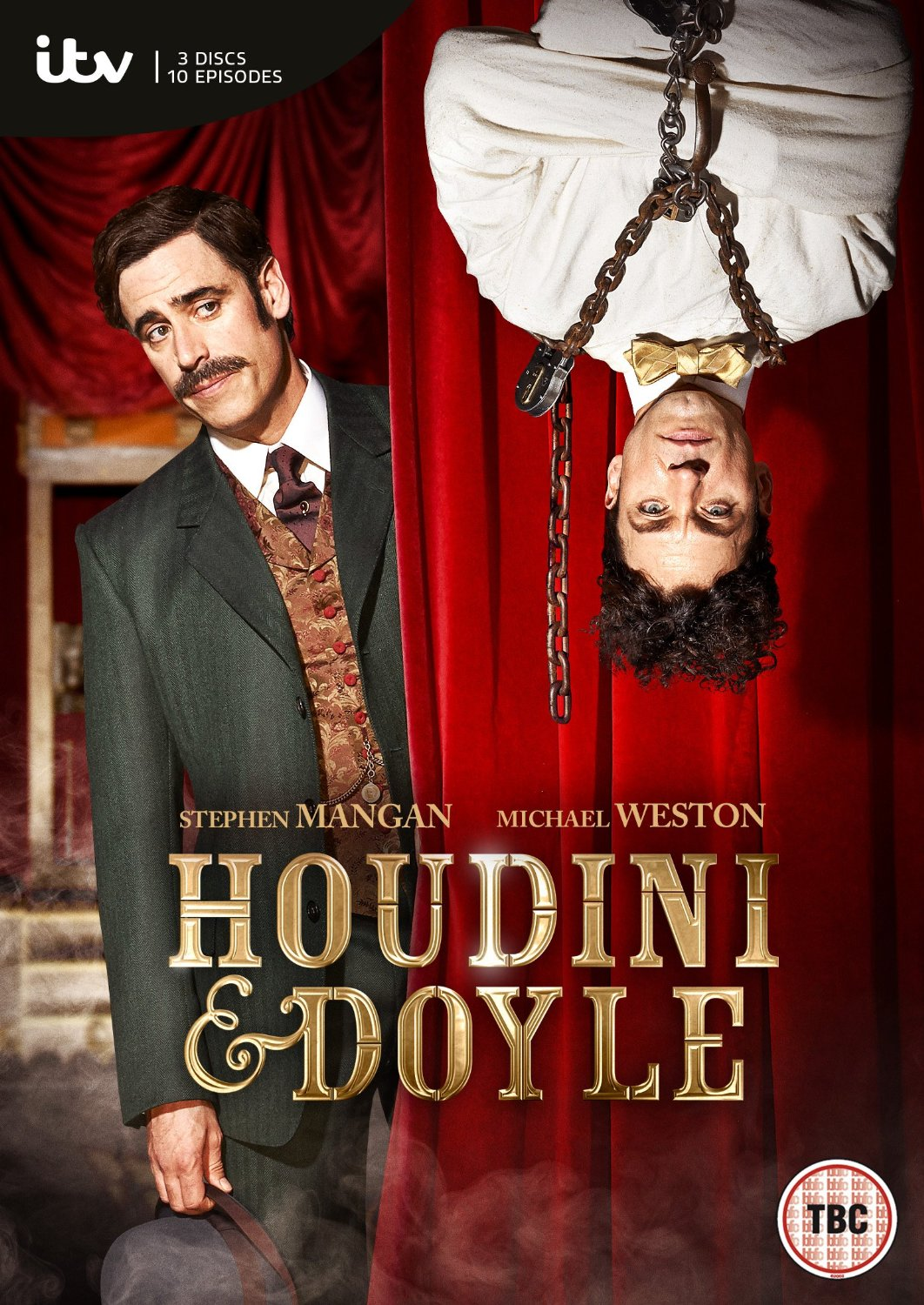 Stephen Mangan and Michael Weston in Houdini and Doyle (2016)