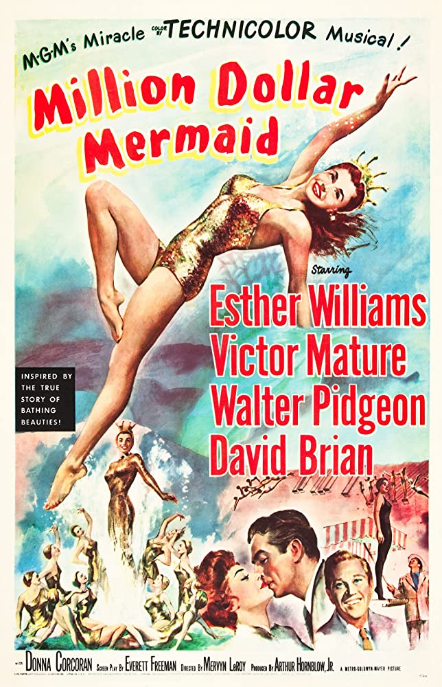 Victor Mature, David Brian, and Esther Williams in Million Dollar Mermaid (1952)