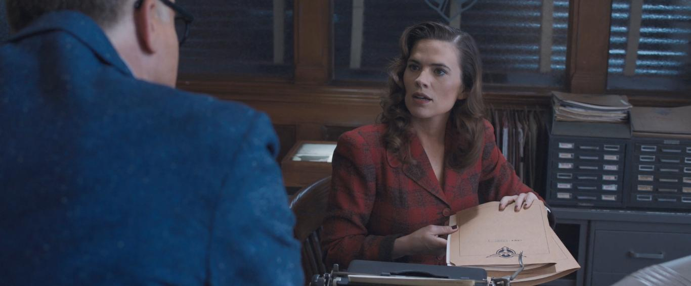 Bradley Whitford and Hayley Atwell in Marvel One-Shot: Agent Carter (2013)