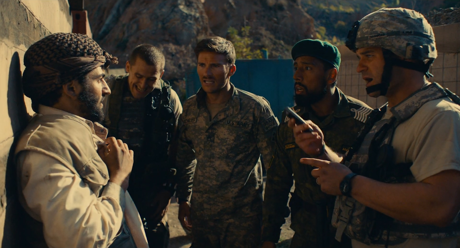 Scott Eastwood, Jack Kesy, Milo Gibson, and Ahmad Sakhi in The Outpost (2020)