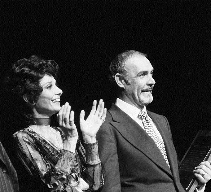 Audrey Hepburn and Sean Connery at an event for Robin and Marian (1976)