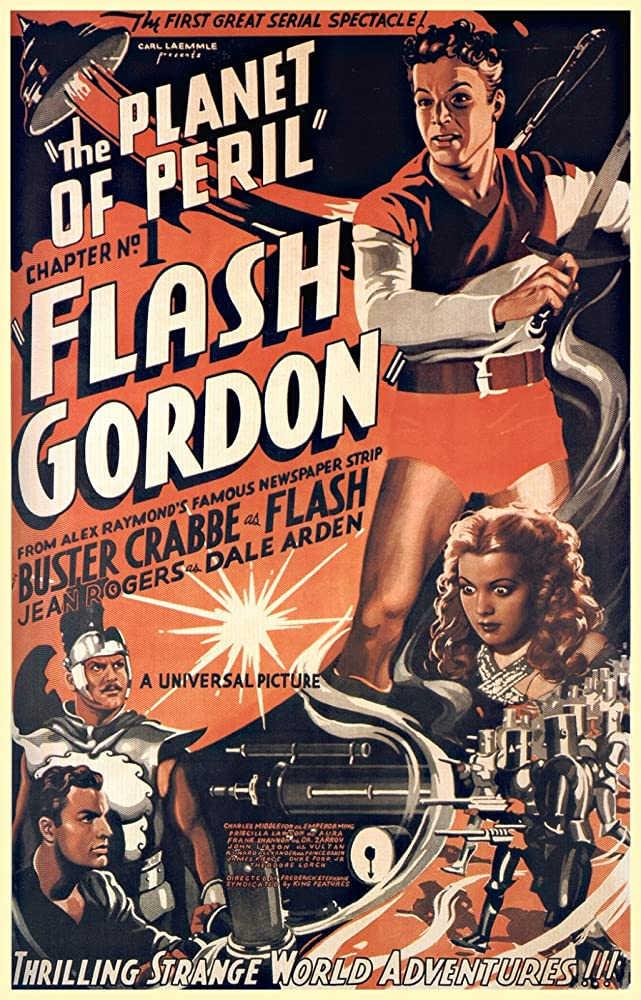 Richard Alexander, Buster Crabbe, and Jean Rogers in Flash Gordon (1936)